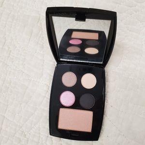 NEW LANCOME eyeshadow and blush palette w mirror